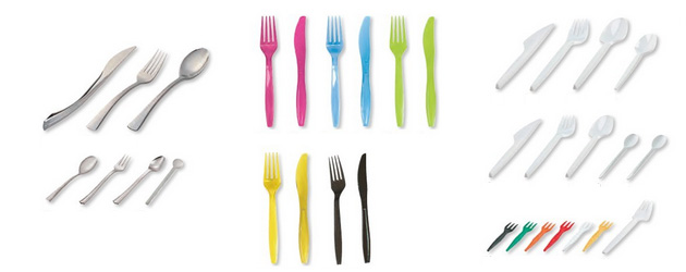 plastični pribor za jelo